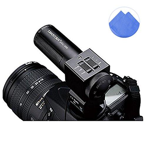 First2savvv SGC-698E11 condenser shotgun stereo microphone mic with tripod fits any DV& DSLR camera with microphone hole and path - Panasonic LUMIX DMC-FZ70 DMC-FZ200 DMC-FZ62 DMC-FZ45 DMC-GH3 DMC-LZ30 DMC-GH2 DMC-G6 DMC-FZ72 Samsung NX11 NX20 WB2100 E