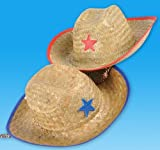 STRAW SHERIFF COWBOY HAT, Case of 144
