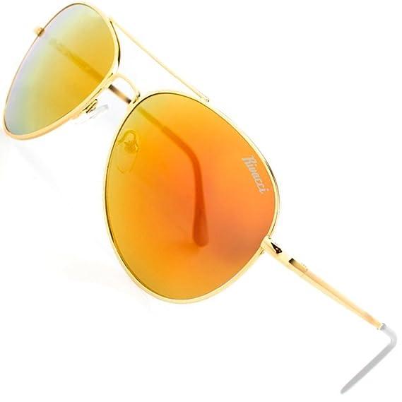 Rivacci Gafas de sol Hombre Mujer Wayfarer/Club Master/Aviator Retro Diseño – Top estuche & Gafas polarizadas Toalla 19 Aviator Gold/Polarised Rot - ...
