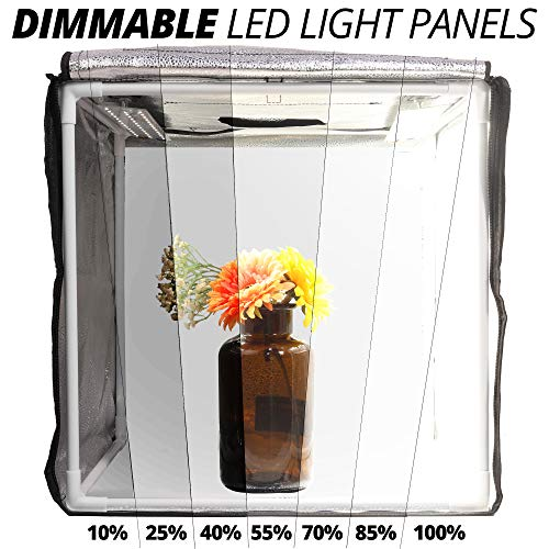 Phomito Light Box Tent Booth for Product Photography, 7 Dimmable Lighting Settings, 3 Backdrops, Portable Bag, Perfect for Photo Shooting Studio (Four LED Panels, 31.5x31.5x31.5 Inches) by Phomito (Image #3)
