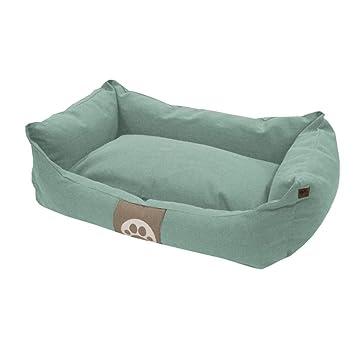 Overseas Cama para Perro Poliéster Algodón Medidas 60x40x18 cm Color Azul Hielo: Amazon.es: Hogar