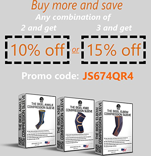 Ankle Brace Compression Sleeve | Arch Support | Foot Sock for Injury Recovery, Joint Pain, Swelling, Achilles Tendon | Pain Relief from Heel Spurs, Plantar Fasciitis | Breathable | Women & Men - M by BigEL (Image #6)
