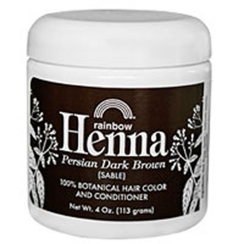 Rainbow Research Persian Dark Brown Henna, 4 Ounce - 6 per case. by Rainbow Research