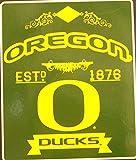 NCAA Officially Licensed Established Raschel Fleece Throw Blanket (Oregon Ducks)