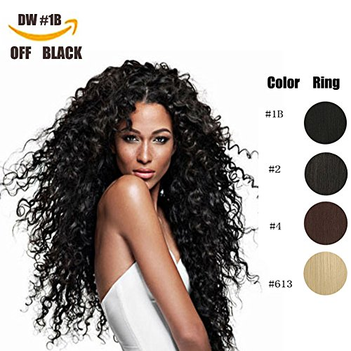 Clip in Hair Extensions Synthetic hair Clip in 140G 7Pcs/Lot Japanese Heat Resistant Fiber Hairpieces Deep Wave/Body Wave/Straight hair (Deep Wave, Natural Black 1B#) by fashion icon hair