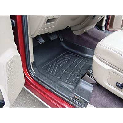 Westin Wade 72-110001 Black Sure-Fit Front Right and Left Molded Floor Mat Set - 1 Pair: Automotive