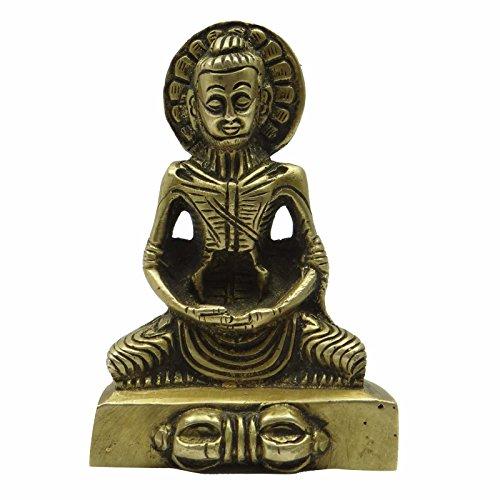 Handmade Tibetan Buddha Statue Religious Brass Sculpture Collectable Garden Deco