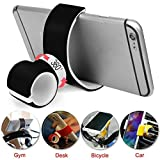 Iusun Phone Holder, 360 Degrees Roating Air Vent Mount Bicycle Car Desk Gym Cell Phone Holder Stands for IPhone 6 Plus/7/8/X 3.5-6.0inch Phone (Black)