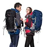Mountaintop 50+5 Liter Internal Frame Backpack with Rain Cover