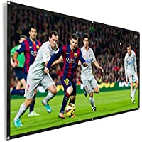 REIDEA Outdoor Portable Projector Screen 100 Inch 16:9 HD Foldable Movie Screen Support Double Sided Projection