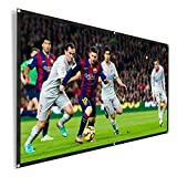 REIDEA Projector Screen 100 Inch 16:9 HD Outdoor Portable Foldable Anti-crease Projection Screen Support Double Sided Projection
