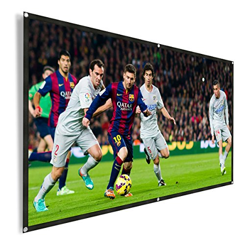 REIDEA Projector Screen 100 inch 16:9 HD Outdoor Portable Foldable Anti-Crease Projection Screen Support Double Sided Projection by REIDEA