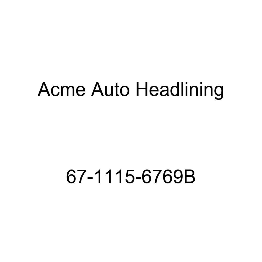 Acme Auto Headlining 67-1115-6769B Black Replacement Headliner Buick Electra 4 Door Hardtop w//Original Bow Headliner