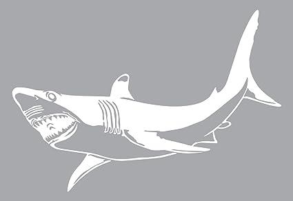 Amazon com: Boat Decal is a Large OUTDOOR Shark Décor Vinyl