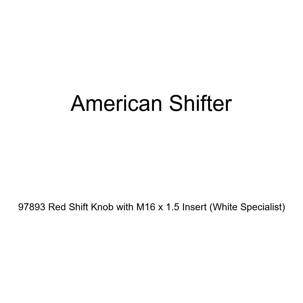 American Shifter 97893 Red Shift Knob with M16 x 1.5 Insert White Specialist
