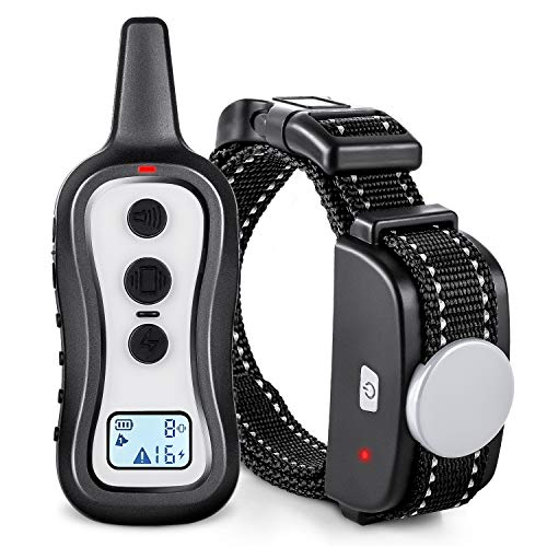 Dog Training Collar,Dog Shock Collar with Remote, Separate Function with Anti-Stuck Button,Up to 330Yards Range, Beep/Vibration/Electric Shock Modes,Rainproof Bark Collar for Small Medium Large Dogs