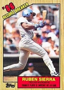 1987 Topps #6 Ruben Sierra RB - Texas Rangers (Record Breaker) (Baseball Cards)