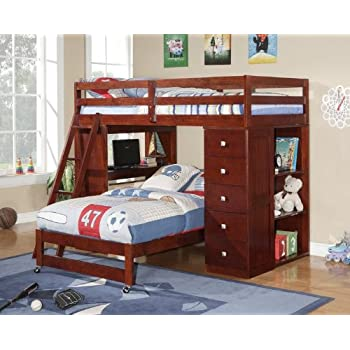 Amazon Com Twin Over Twin Modular Loft Bed With Chest And