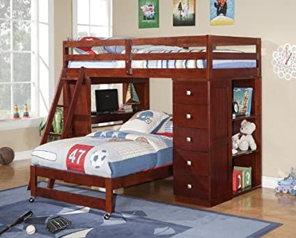 Amazon Com Twin Over Twin Modular Loft Bed With Chest And Desk