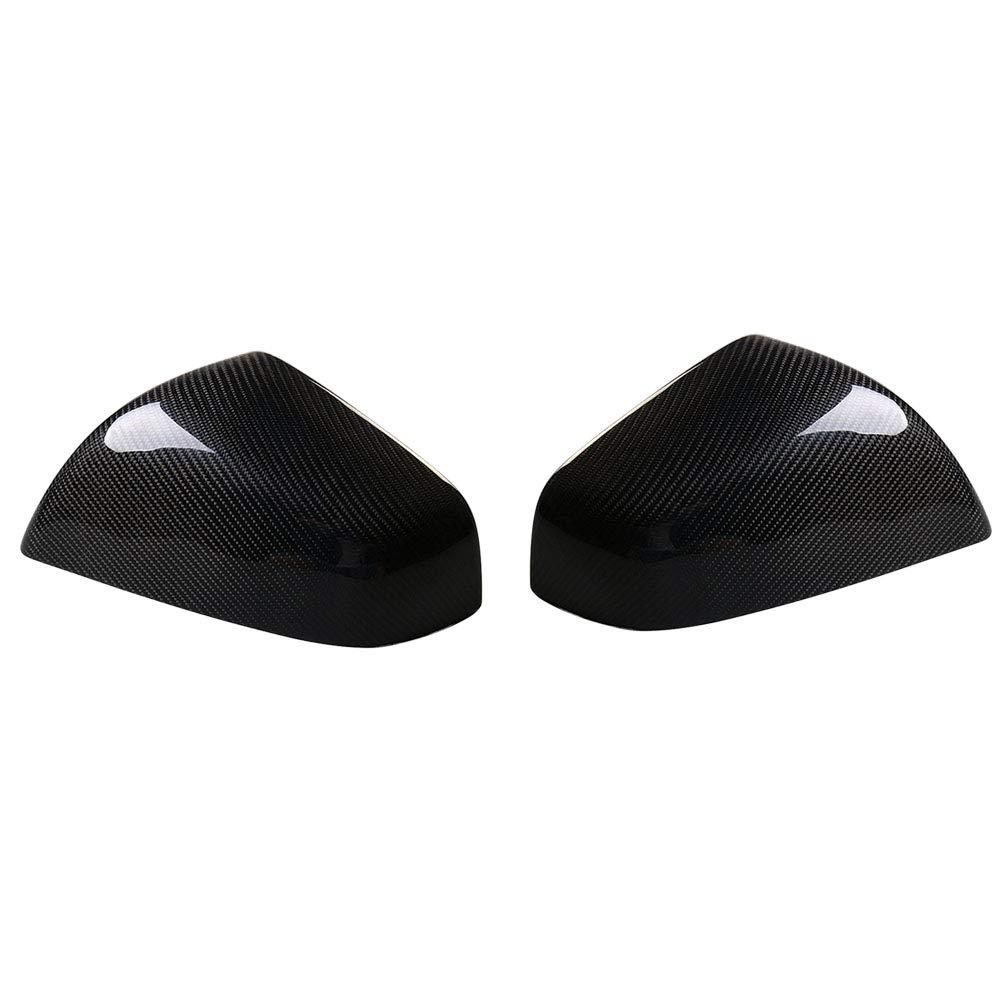 Semoic 1 Pair Carbon Fiber Car Mirror Covers For 2016-2018 Tesla Model X Suv Side Mirror Covers Cap 3K Carbon Fiber Side Mirror Covers For Cars