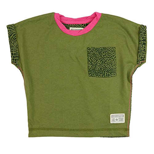 Converse Girls Leopard Camo Pocket Tee - 3-4 Years / 96-104 cm