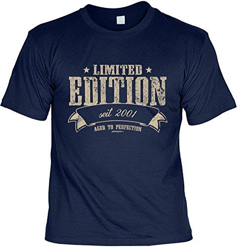 T-Shirt - Limited Edition Seit 2001 - lustiges Sprüche Shirt als Geschenk zum 16. Geburtstag