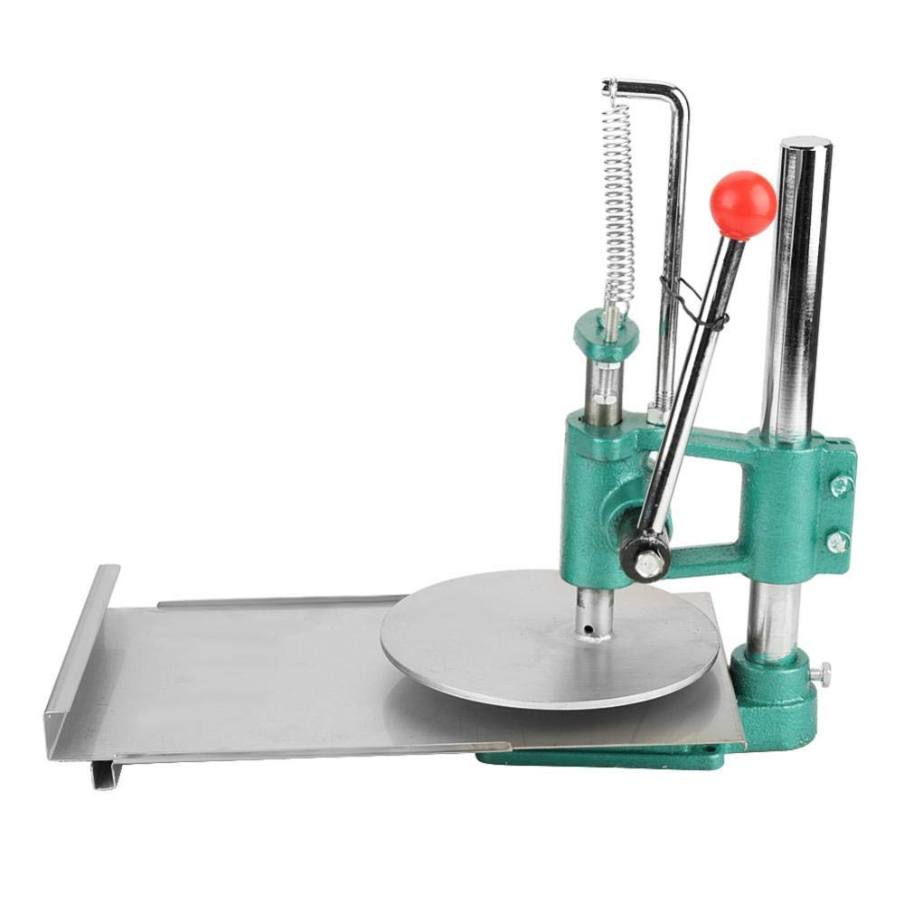 Akozon Manual Dough Press Machine, Dough Roller Sheeter for Making Pizza Pastry, Stainless Steel Household Pizza Dough Pastry Manual Press Machine Metal Plate Diameter