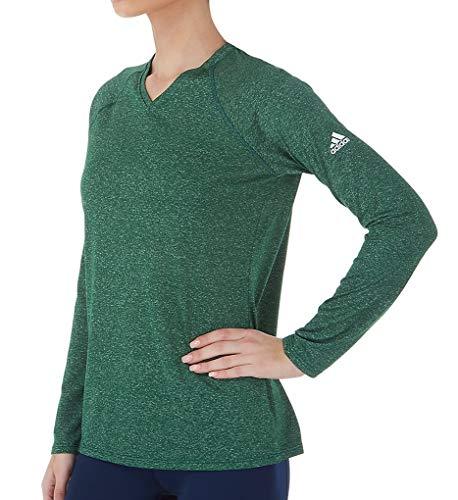 Women's Climalite Adidas Dark Sleeve Heathered Long Green Shirt gwddPqxACK