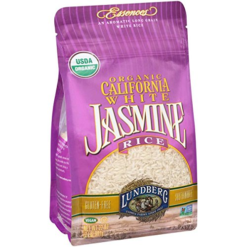 Lundberg Family Farms, Rice, Og1, Jasmine, White, Pack of 6, Size - 2 LB, Quantity - 1 Case by Lundberg