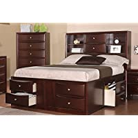 Cal. King Bed In Espresso Finish by Poundex