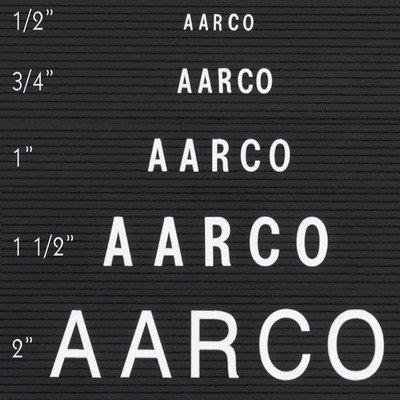 Single Tab Changeable Letters in Helvetica Size: 1