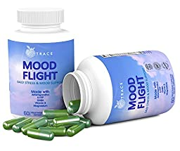Mood Flight. Soothing Anxiety, Stress, and Mood support supplement. Relief, Calmness, Breathe, and Focus. With Ashwagandha, Chamomile Flower, 5 HTP, Vitamin B\'s, Magnesium, and more.