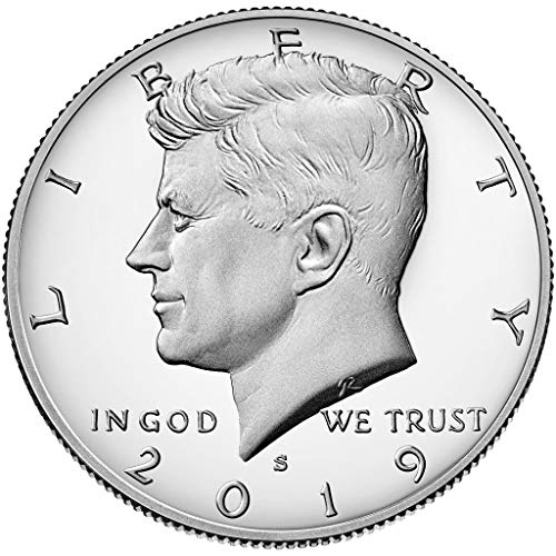 2019 S Silver Proof Kennedy Half Dollar Half Dollar Proof US Mint (Proof Dollar Half Kennedy)