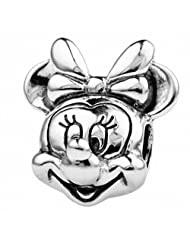 TAOTAOHAS 925 Sterling Silver Charm Beads pendant Cute Minnie w Thread, Fit European bracelets