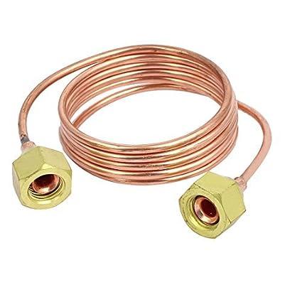 eDealMax 1 / 4BSP Rosca hembra 1M Longitud refrigerador de tubo de cobre bobina de cobre