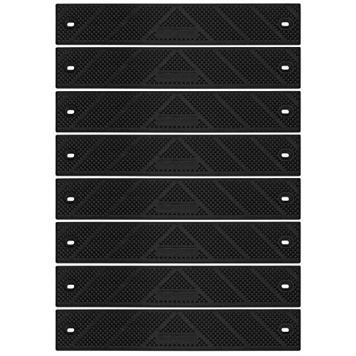 """Grip Strip Extension No Adhesive Tread Tape Anti Non-Slip High Traction, Safety, Step, Indoor, Outdoor for Any Stairs in Your Home or Outdoor Setting 12"""" x 2"""" (8 Pack, Black)"""