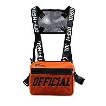 Armiya Universal Hands Free Chest Bag Utility Rig Walkie Talkie Harness Pocket Pack Radio Holster Holder for Men Women (Orange)