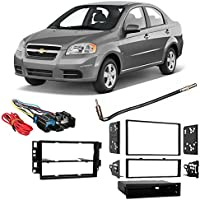 Fits Chevy Aveo 2009-2011 Single/Double DIN Harness Radio Install Dash Kit