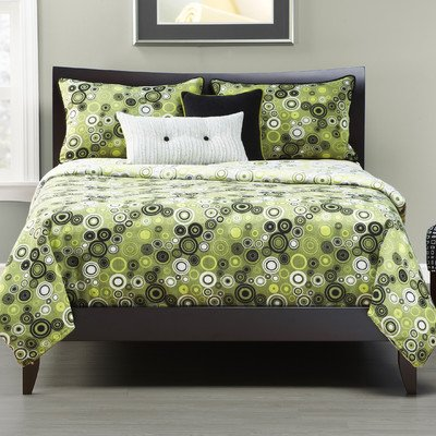 Lime Green and Black forter and Bedding Sets
