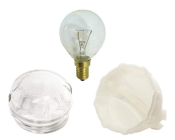 LAZER ELECTRICS Lámpara de vidrio 40 W bombilla, cubierta de lente ...