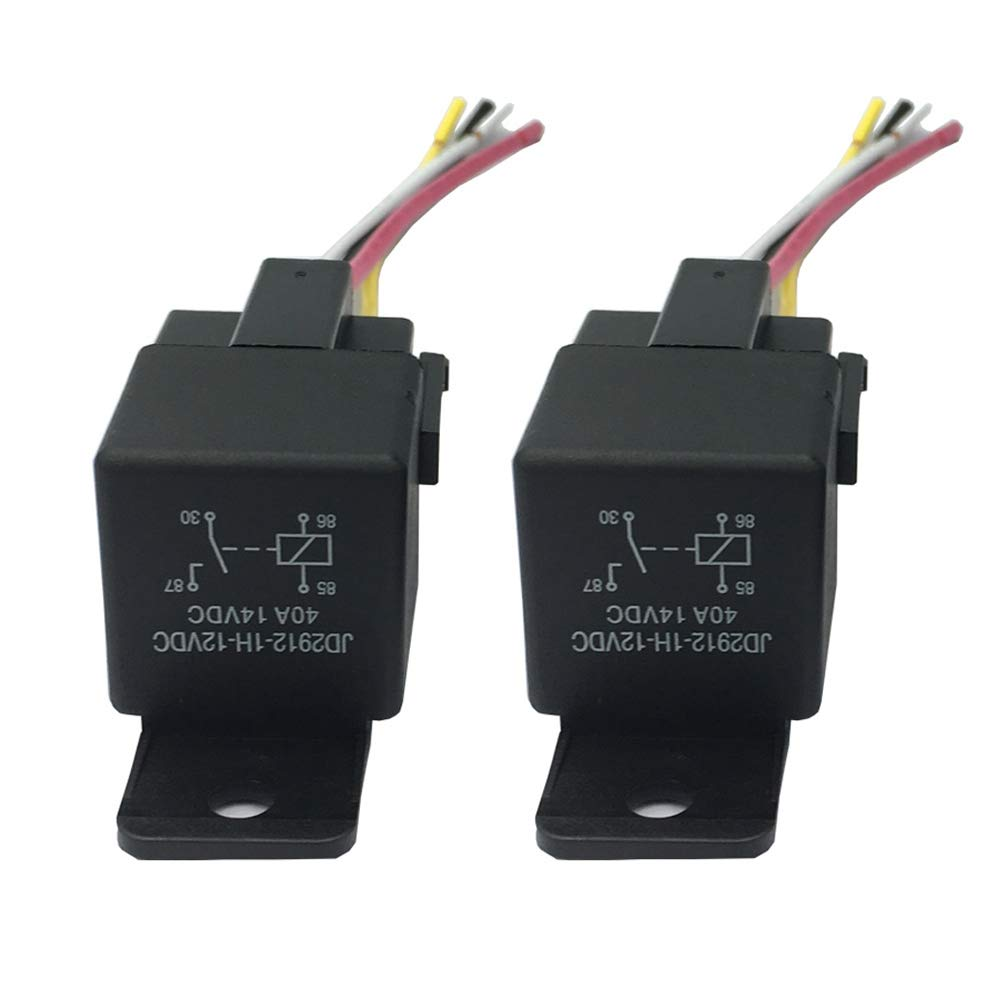 12V 40A Relay, 4 Pin Vehicle SPST Auto 12V Relay Switches & Starters Car Auto 2 Pack (Relay 12V) PANCHEN