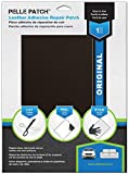 Pelle Patch - Leather & Vinyl Adhesive Repair Patch - 25 Colors Available - Original 8x11 - Dark Brown