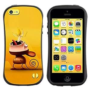 Pulsar iFace Series Tpu silicona Carcasa Funda Case para Apple iPhone 5C , Cute Funny Monkey Banana