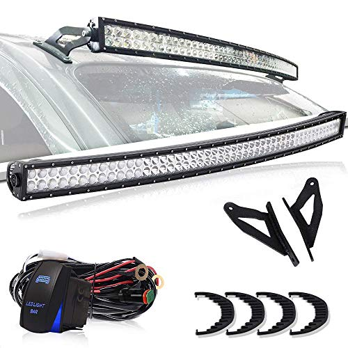 TURBOSII 50 Inch 288W LED Light Bar Curved Dual Row Flood Sp