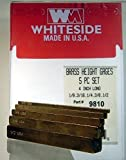 Whiteside 9810 Brass Set Up Gauges, 5 Piece Set