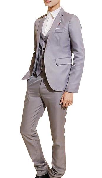 Amazon.com: Unastar Traje de negocios para hombre, traje de ...