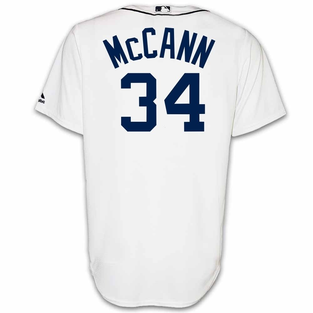 6b8f9a45786 Amazon.com  James McCann Detroit Tigers Home Replica Jersey by Majestic