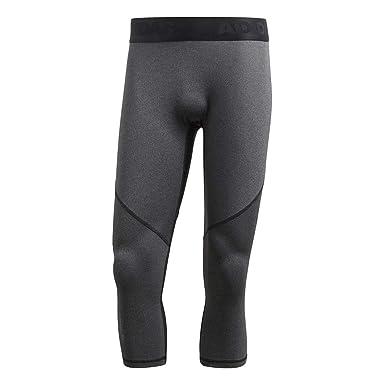 67497f4c56a4f Adidas Men's Alpha Skin Sport 3/4 Heather Tights, Grey (Dark Grey Heather
