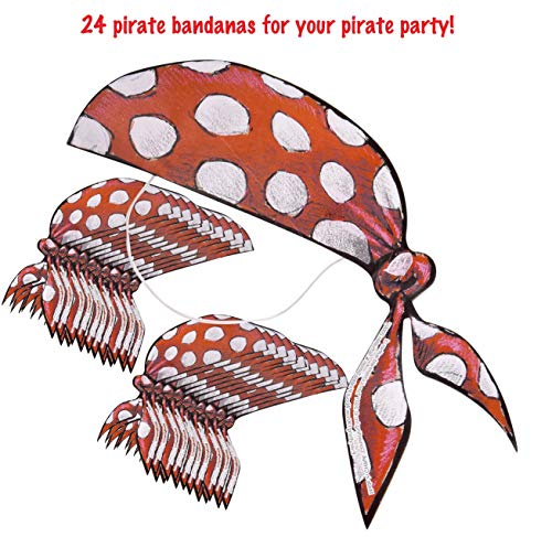 Pirate Party Bandana (Pack of 24 Hats) Perfect