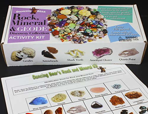 Rock & Mineral Collection Activity Kit (Over 150 Pcs) by Dancing Bear